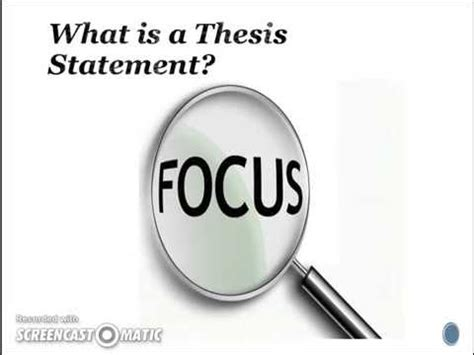 How to Write a Thesis Statement With Examples - ThoughtCo